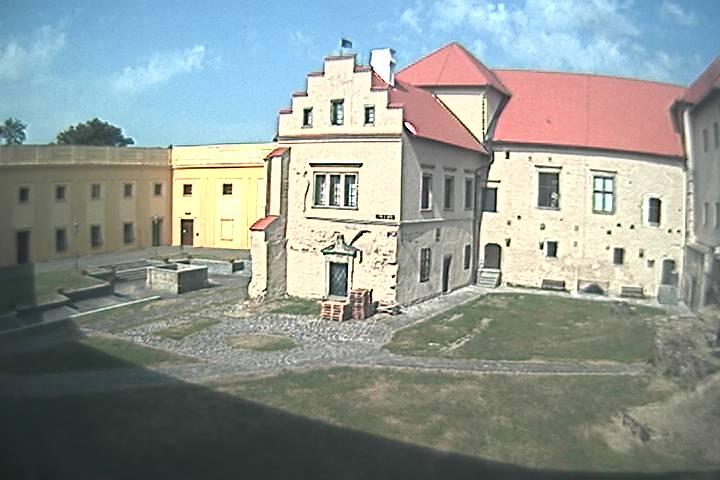 Pohled na hrad v Polné